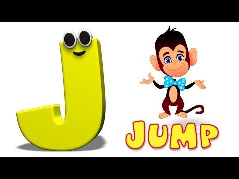 Phonics Letter- J song Kids Tv Nursery Rhymes S01EP163