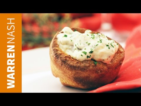 Creamed Chipped Beef in YOrkshire Pudding