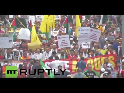 Malaysia: Pro-Palestine protesters rally against Israeli in front of US embassy