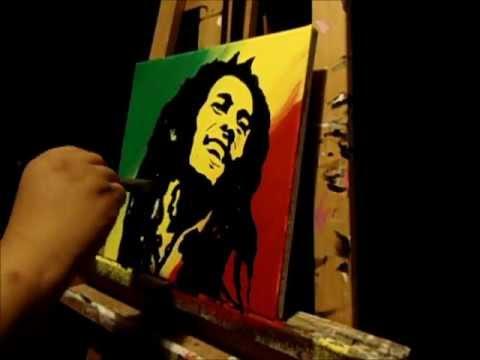 Glow In The Dark Painting (Bob Marley) KJB ARTS