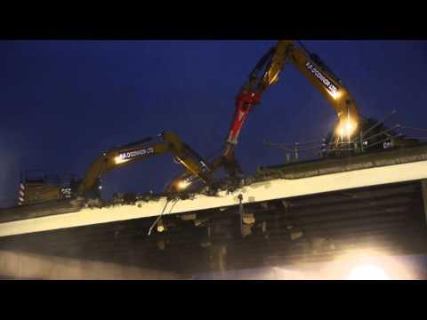 Mersey Gateway - Demolition of Ditton flyover south bridge in Widnes - April 2016