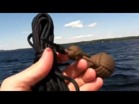 Paracordist how to throw a quick coil paracord monkeys fist lifeline from a boat