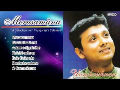 Carnatic Vocal | Merusamana | P. Unnikrishnan | Jukebox video