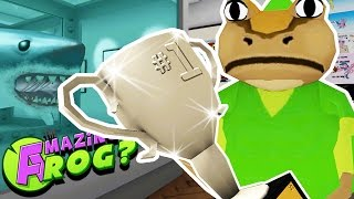 LINK FROG MAKES A SHARK TRAIN & GETS SILVER TROPHIES! || Amazing Frog Gameplay/Funny Moments Part 27