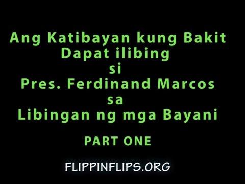 Katibayan kung Bakit Dapat ilibing si Pres. Ferdinand Marcos sa LnmB Part 1