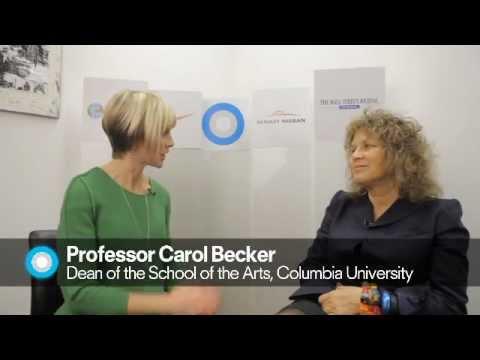 Columbia School of the Arts Professor Carol Becker speaks with Edie Lush at Hub Davos