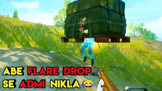 Abe Flare Drop Se Admi Nikla 😂😂   Pubg Mobile Funny Moment   Roasting Guru