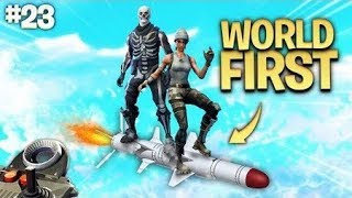 DOUBLE REMOTE MISSILE RIDE *WORLD FIRST*   Daily Fortnite Best Moments Ep.23