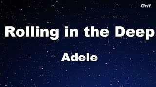 Download Lagu Rolling in the Deep - Adele Karaoke【With Guide Melody】 Gratis STAFABAND
