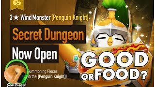 SUMMONERS WAR : MAV the Wind Penguin Knight Secret Dungeon - Good or Food?