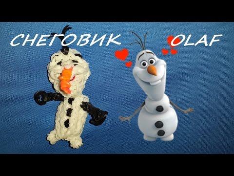 Как сделать снеговика из резинок на рогатке