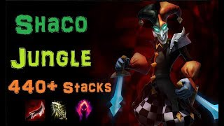 Shaco Jungle 440+ Dark Harvest Stacks [Level 1 to Diamond] Full Gameplay - Infernal Shaco
