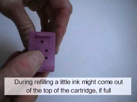 HP Color Inkjet Cartridges: Refill Instructions