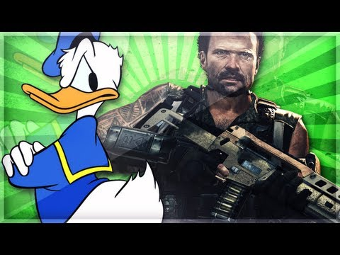 Donald Duck Gets Beat Up in Black Ops 2 BO2