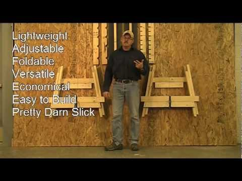 how to make sawhorses with 2x4