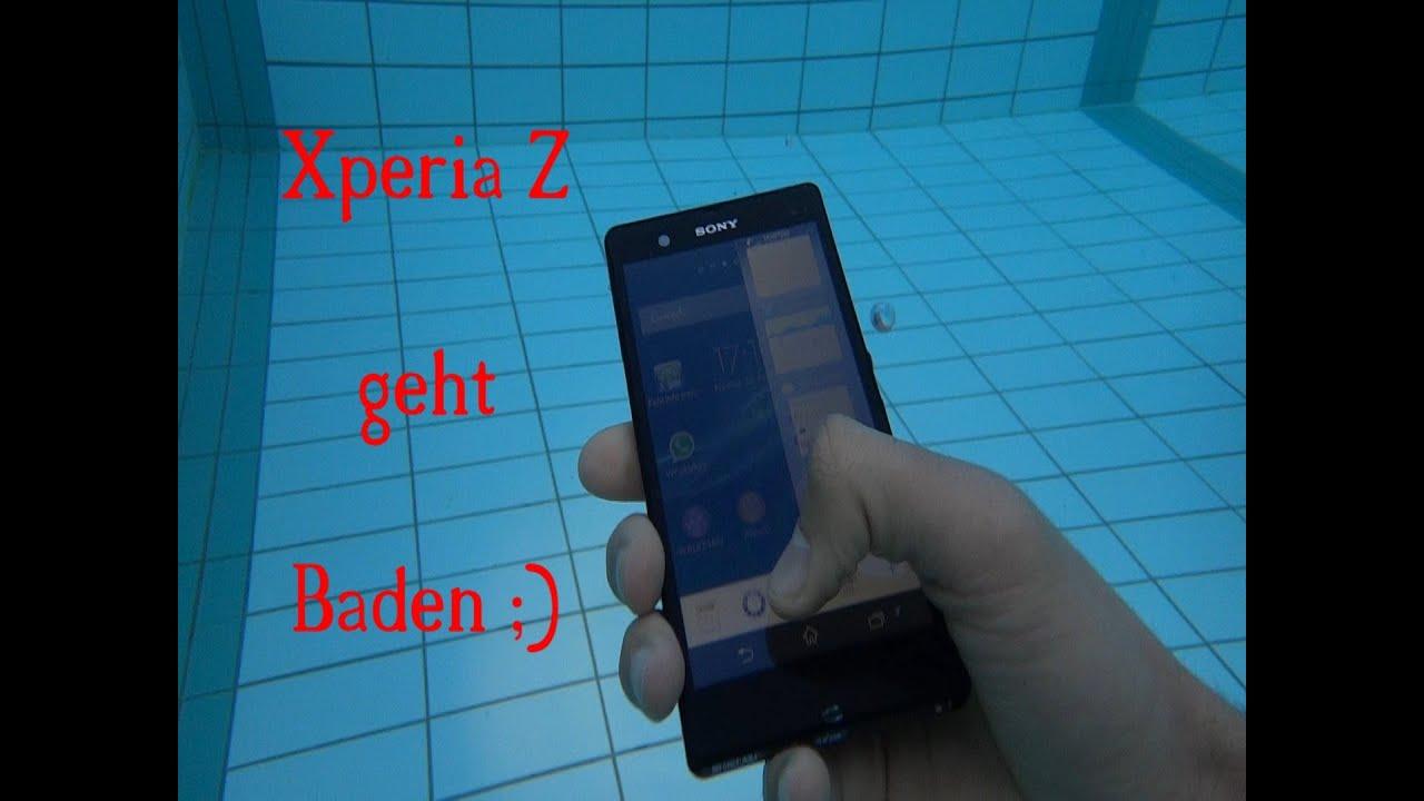 Sony Xperia Z Wasserdicht Test Youtube