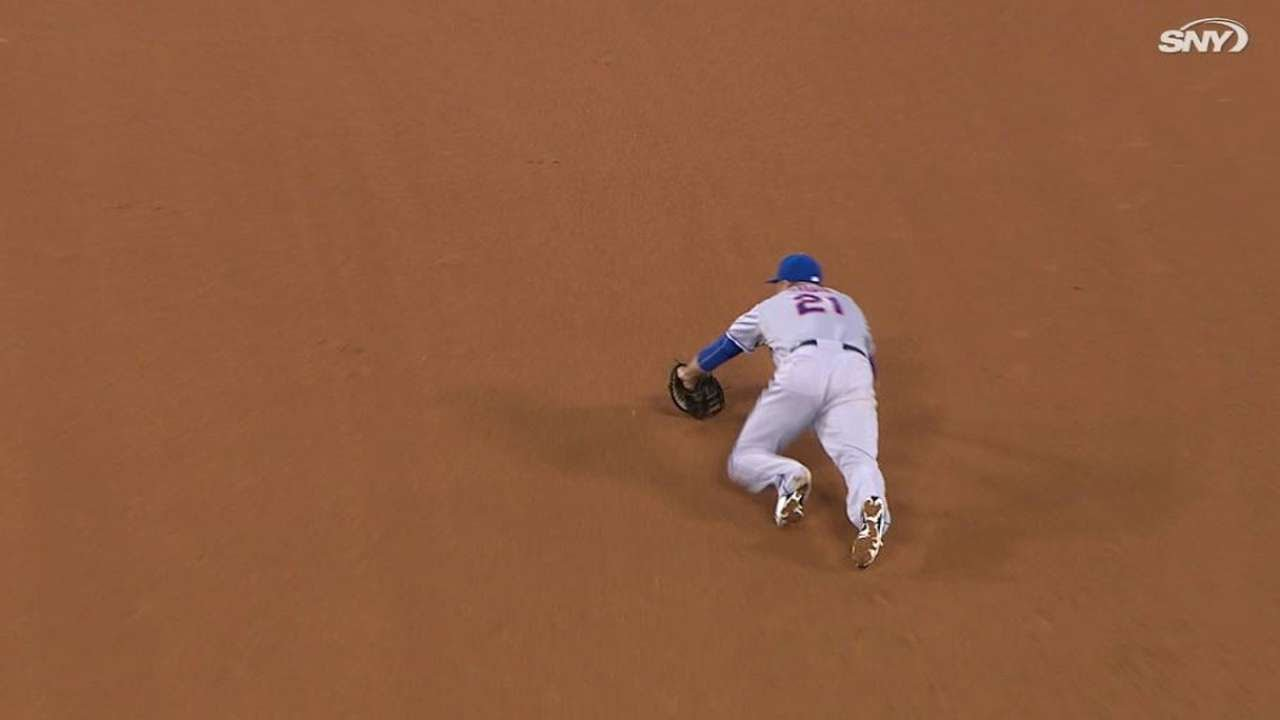 NYM@LAD: Duda robs Gonzalez with a great diving stop
