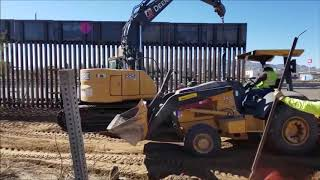 Border Wall Replacement El Paso 2019 CBP Time Lapse Video