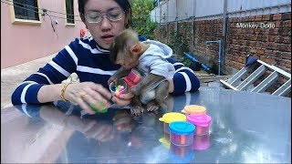 Dodo Playing Colorful Sand With Mama, Dodo Unbox Colorful Sand