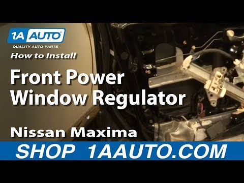 How To Install Replace Front Power Window Regulator Nissan Maxima 00-03 1AAuto