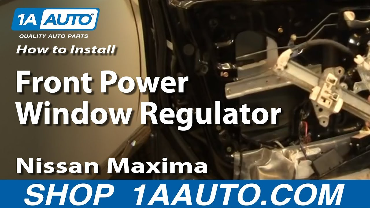 How to install replace front power window regulator nissan for 2000 nissan altima window switch
