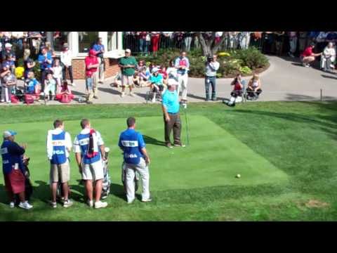 Video of the 1:15 p.m. past captain / celebrity scramble from the 2012 Ryder Cup @ Medinah Country Club. This group included Michael Phelps, George Lopez, Hal Sutton, and Lanny Wadkins.