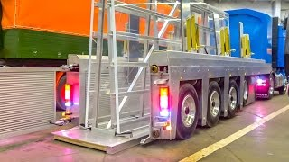 RC glass transport semi truck in GIGANTIC 1/8 scale! AIR SUSPENSION and hydraulics!