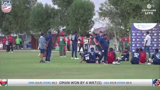 USA vs Oman LIVE International Cricket from WCL3 in Oman