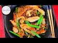 Chicken Japchae Recipe  | Korean Japchae Easy Recipe Glass Noodles Ramen with Chicken and Vegetables