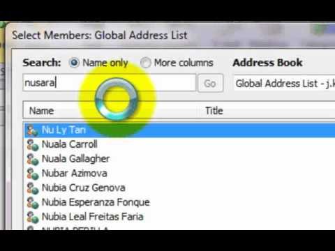 Outlook 2010 create contact group youtube