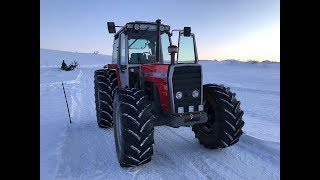 Massey Ferguson 699 turbo sound coldstart and drive