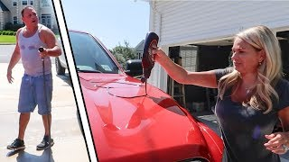 I COVERED HIS CAR IN CHOCOLATE! *Prank Wars*