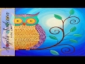 Easy Owl Acrylic Painting Beginner Tutorial | Live Full Length Online Class | Free Art Lesson