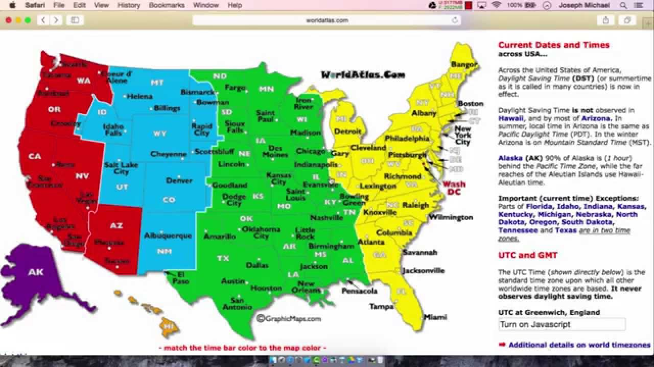 United States Time Zones Part 2 Youtube