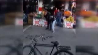 sokak ortasında dehşet kadına saldırdı kimse müdehale etmedi