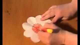 Popierinė gėlių puokštė