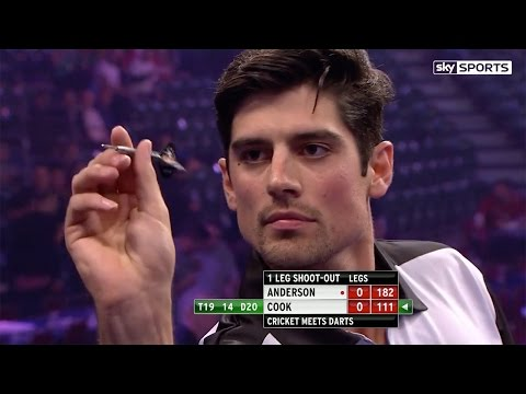 Alastair Cook v James Anderson - cricket meets darts, Alexandra Palace