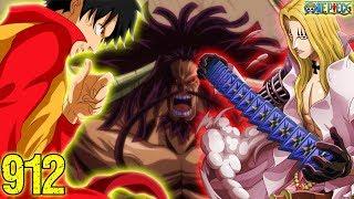 LUFFY, LAW, BASIL HAWKINS And KID Vs KAIDO Greatest Fight - One Piece 912