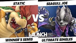 Launch Smash Ultimate - TG | Static (Bowser) VS Demise | Seagull Joe (Wolf) SSBU Winner's Semis