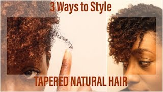 3 Ways I Style My Tapered Cut Natural Hair| BEAUTYCUTRIGHT