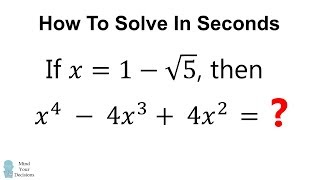 How To Solve This Quickly (2 Minutes No Calculator)