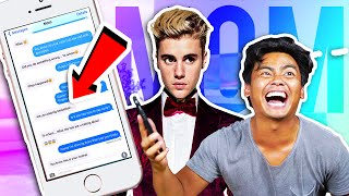 Pranking MOM with JUSTIN BIEBER