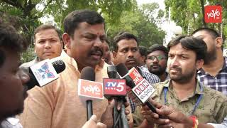 BJP MLA Raja Singh Speaks to Media at KCR Oath Taking Ceremony - Raj Bhavan