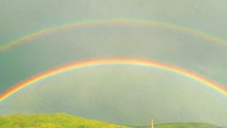 DOUBLE RAINBOW | TWO RAINBOWS IN THE SKY /HD/