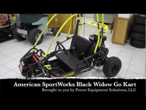 American SportWorks 3171 Black Widow Go Kart