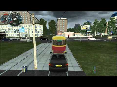 City Car Driving 1.2.5 Tatra T3 tram