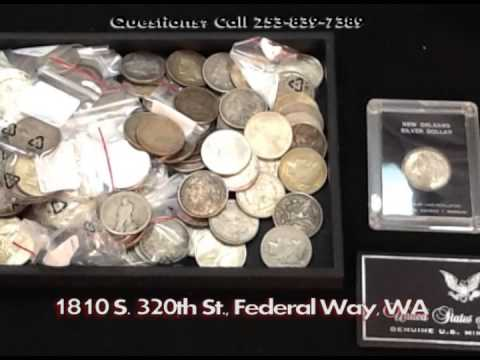 Rare Silver Coin Buyers Dealers Federal Way Custom Jewelers (Des Moines WA) (Kent WA) Coin Shop