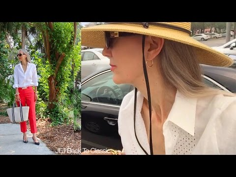 Vlog--Lunch Grain de Cafe, Shopping Whole Foods; My OOTD / Classic Fashion, Style Over 40, 50