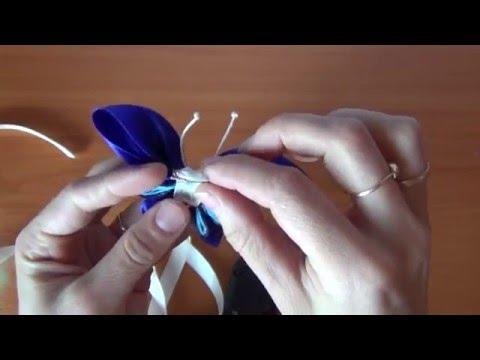 Бабочка из атласной ленты своими руками канзаши 57