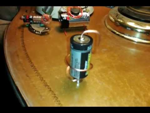 Indented battery for Simple electric motor science project